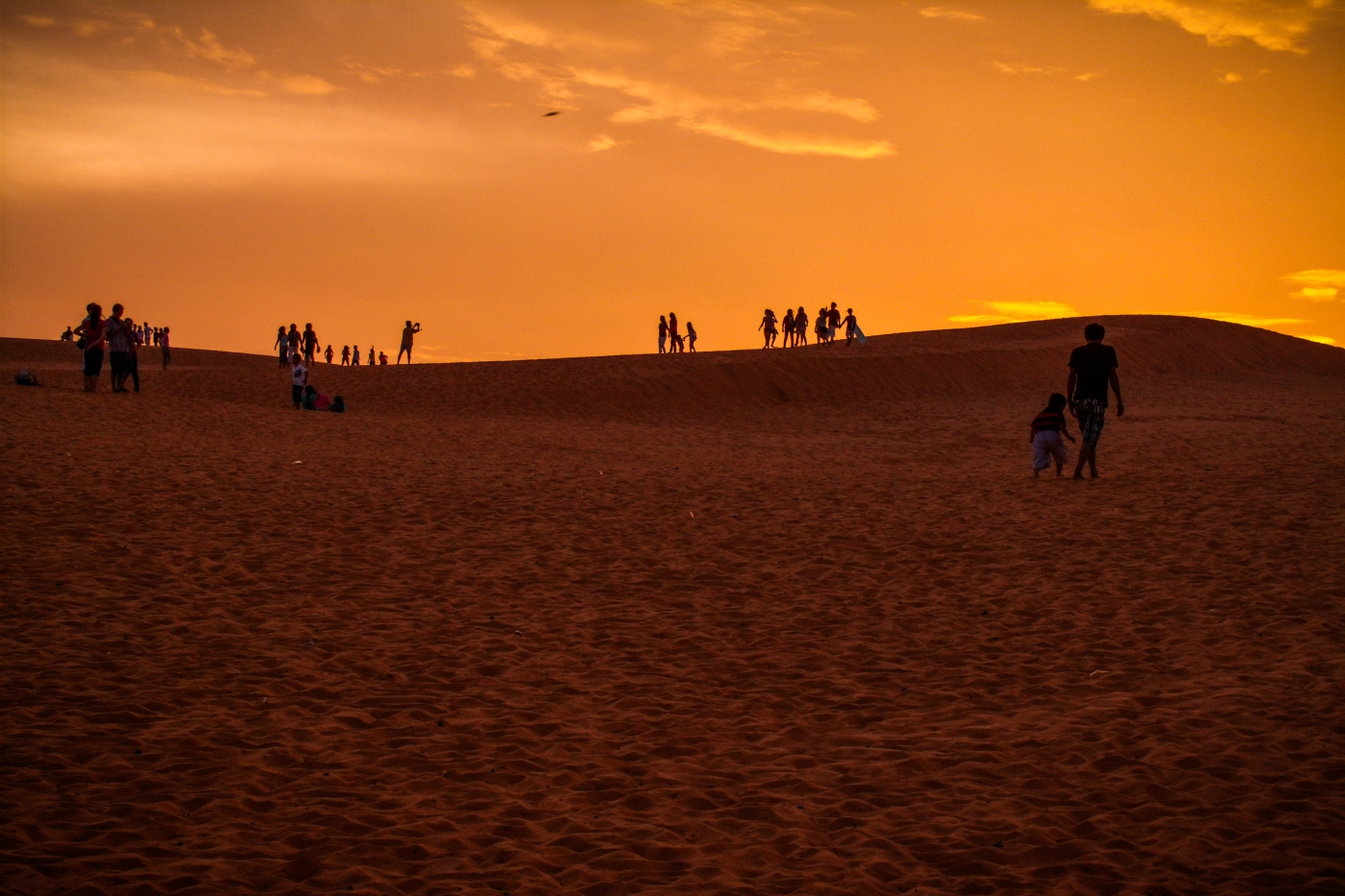Scooters and sand dunes in Mui Ne