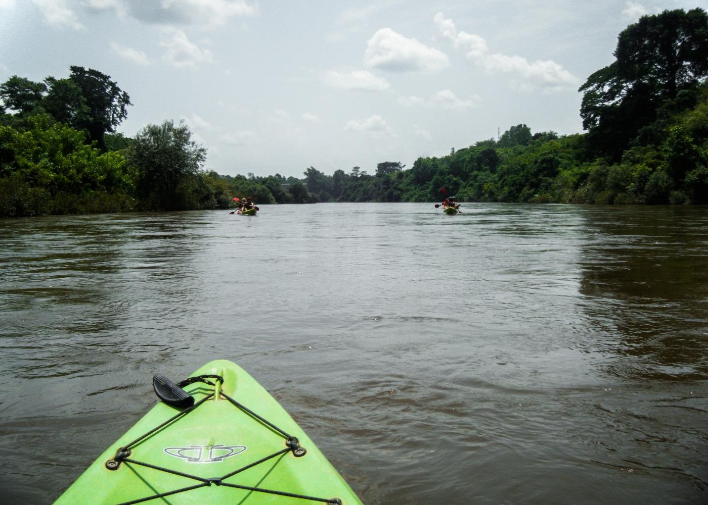 White water kayaking to Vientiane