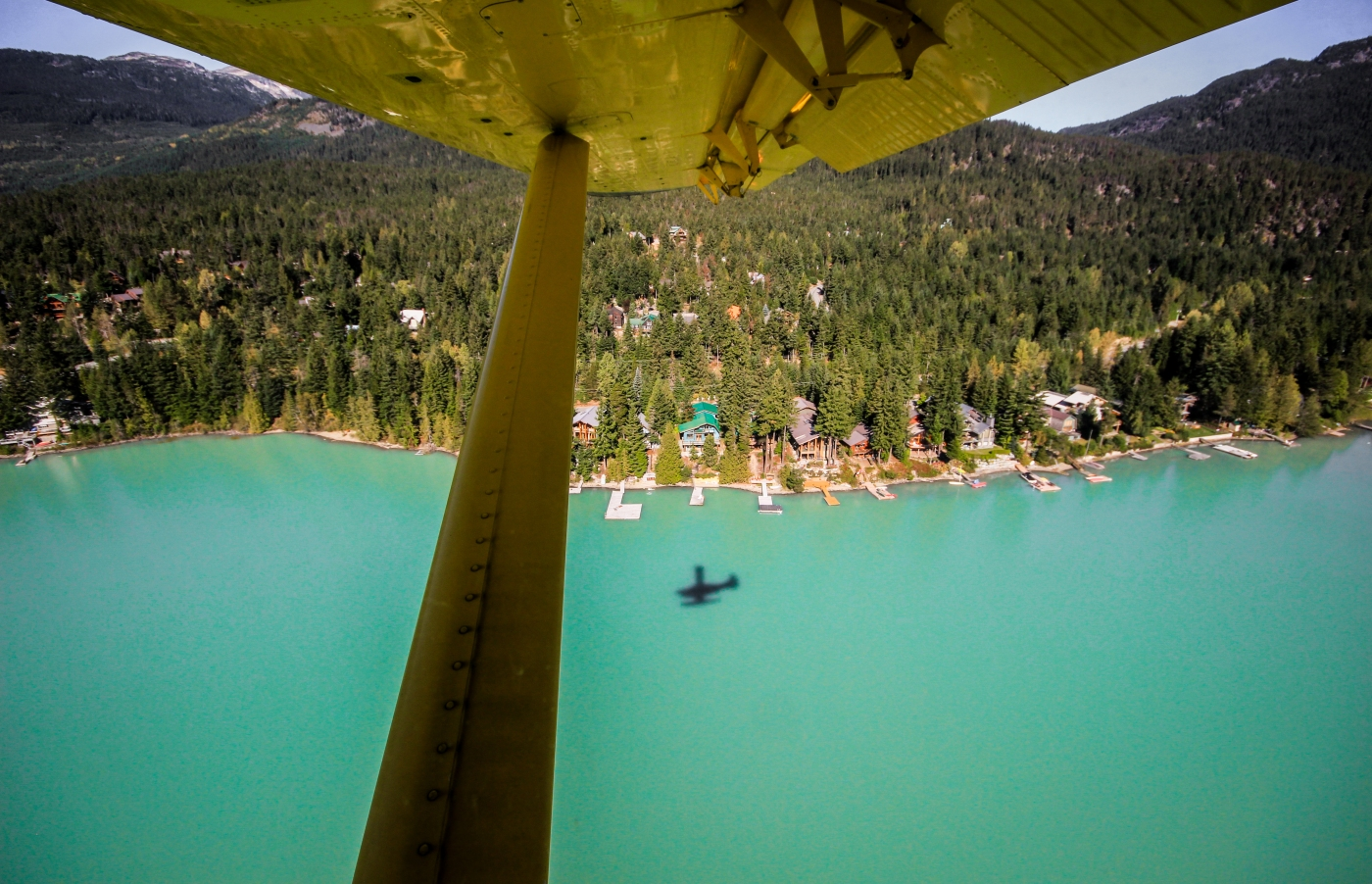 Flying above Whistler with Harbour Air