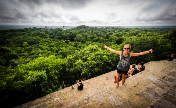 The island of Flores and the ruins of Tikal