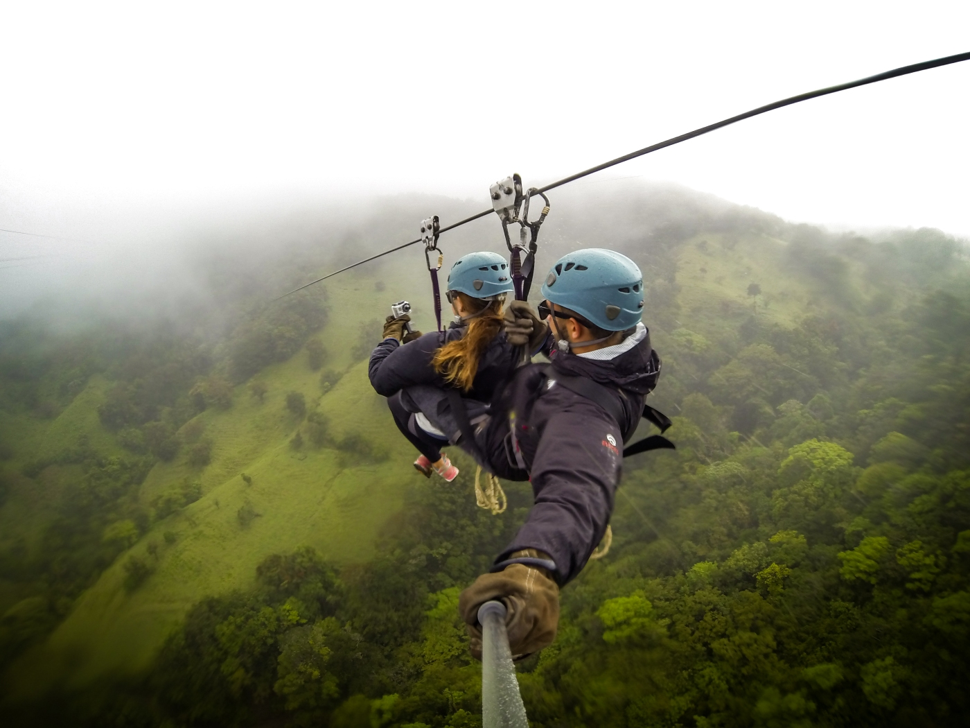 Flying through a cloud forest in Monteverde