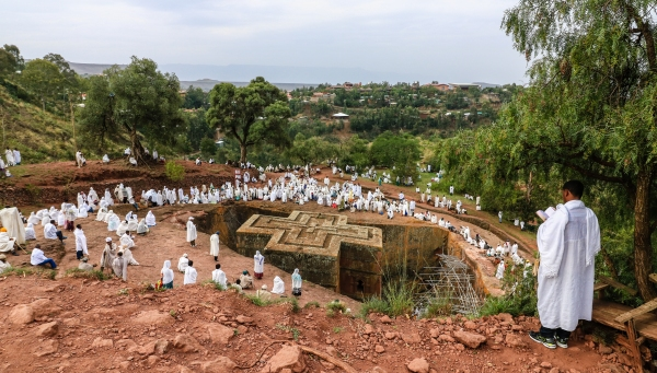 Get lost in the rock-hewn churches of Lalibela