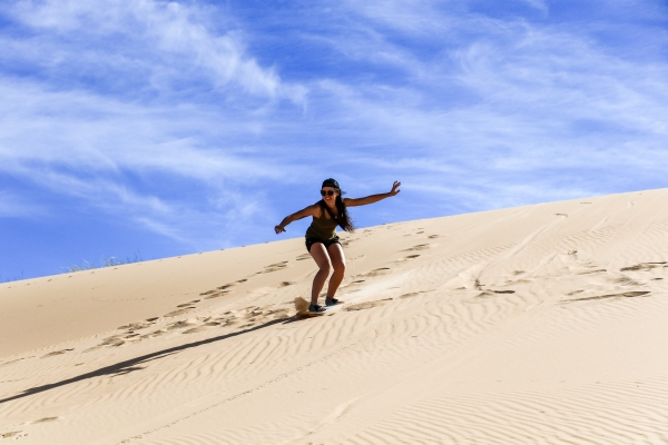 Sandboarding in Witsand Nature Reserve