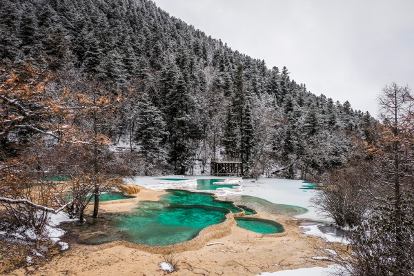 I took a bus to Huanglong National Park and ended up in Narnia...
